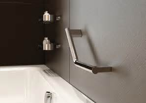 designer grab bars for bathrooms modern slim bathroom angled shower grab bar