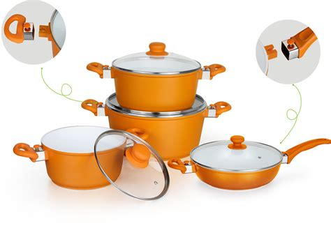 pots pans removable handles induction aluminum china cookware