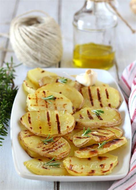Patate alla griglia ricetta contorno e antipasto facile
