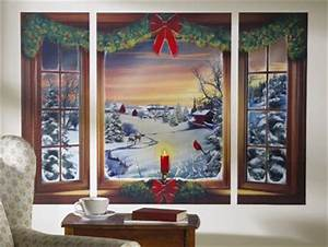 Snow Day Winter Scene Removable Window Wall Decal $11 99
