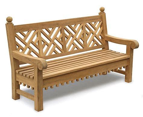 Chiswick Teak 6ft Chippendale Garden Bench  Lattice Bench