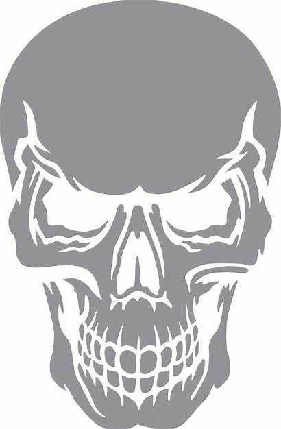 Stencils Angry Skull Etching Stencil Glass Airbrush