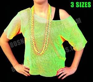 80s Neon Green Mesh String Vest Top