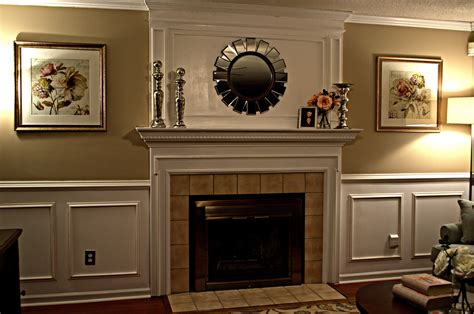 paneling above fireplace
