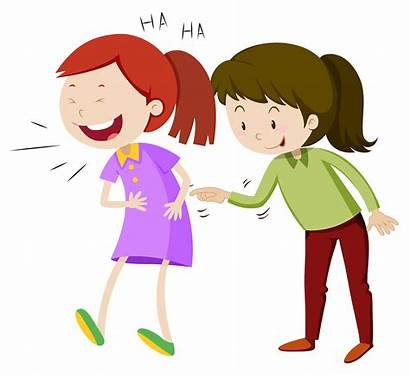 Laughing Vector Laugh Happy Clipart Teasing Illustration