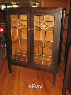 antique  mission oak sheet  cabinet flat file