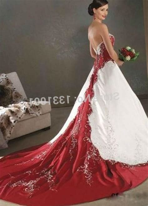 red  white  size wedding dresses pluslookeu