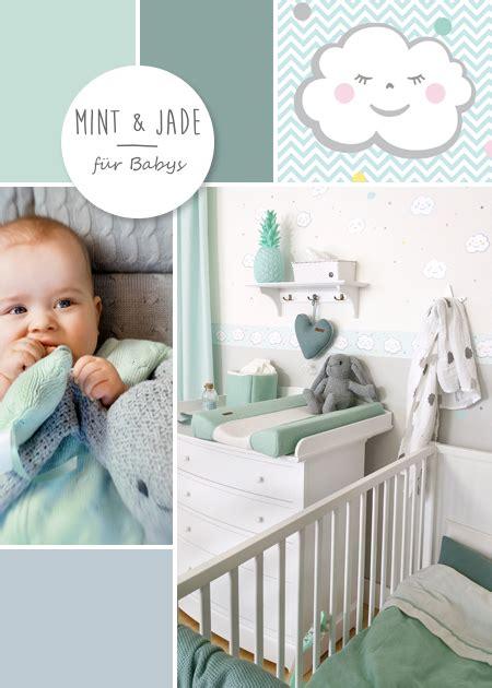 Kinderzimmer Junge Mint by Babyzimmer Mit Wolken In Grau Mint Jade Kinderzimmer