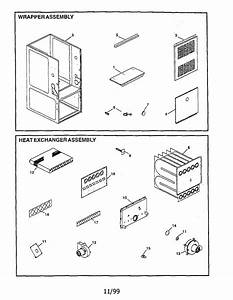 Wrapper  Heat Exchanger Assembly Diagram  U0026 Parts List For