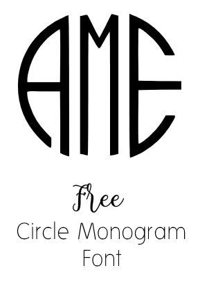 monogram fonts       monogram maker circle monogram font