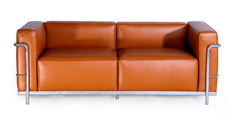 Corbusier Loveseat by Le Corbusier Style Lc3 Loveseat Caramel Aniline Leather