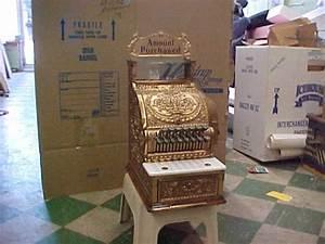 Cash Register Form Antique Brass 317 National Barber Shop Cash Register