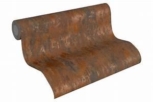 Wandfarbe Kupfer Metallic : tapete vlies vintage patina braun kupfer as creation 32651 1 ~ Sanjose-hotels-ca.com Haus und Dekorationen