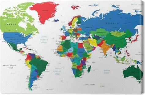 toile carte du monde tableau sur toile carte du monde pays pixers 174 nous vivons pour changer