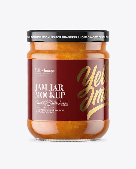 9,000+ vectors, stock photos & psd files. Download Clear Glass Jar with Apricot Jam Mockup Object ...