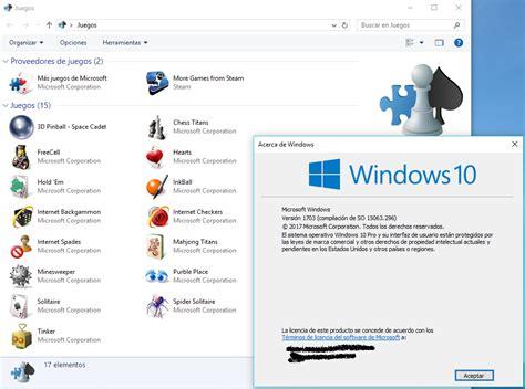 Ten en cuenta que se trata de una emulación, así que puede que haya. Instalar los Juegos de Windows 7 en Windows 10 - Juegos en ...