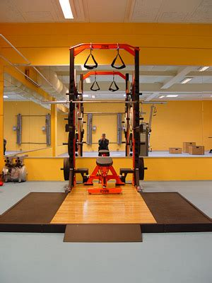 netherlands olympic weight room installation power lift