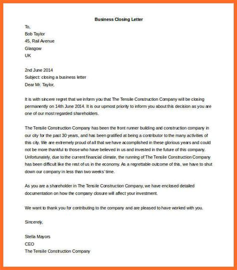 inspirational business letter closings how to format a