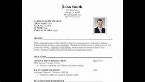 How To Prepare Resume Format For Experienced Fresher
