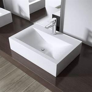 Einbauwaschbecken Eckig Keramik : design waschbecken aufsatz h nge lavabo keramik eckig 46x31cm ~ Bigdaddyawards.com Haus und Dekorationen