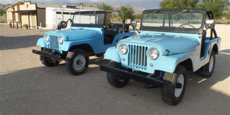 his and hers jeeps pair of cj5 jeeps his and hers 1963 and 1964