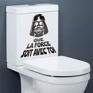 Sticker Muraux Salle de Bain Que la force soit avec toi