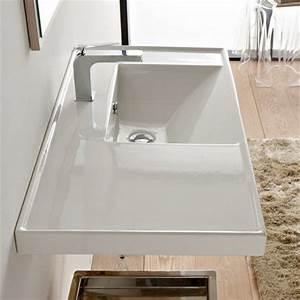 Waschbecken Mit Ablage : scarabeo ml waschtisch 92 cm tiefe 47 cm mit ablage links ~ Lizthompson.info Haus und Dekorationen