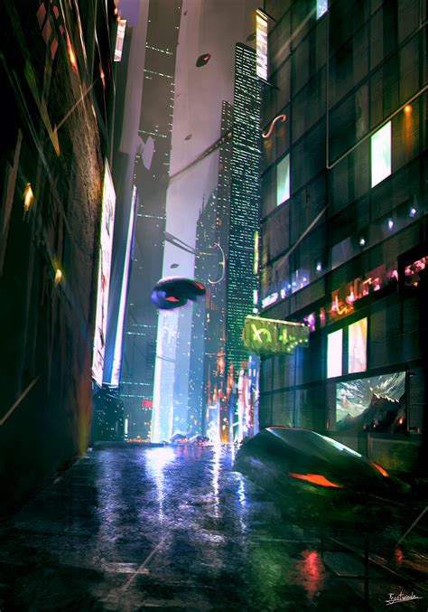 Scifi City By Frostwindz On Deviantart