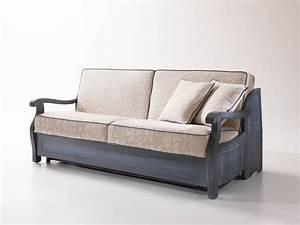 Sofa Mit Holzrahmen : rustikales sofa bett mit holzrahmen im provenzalischen stil idfdesign ~ Frokenaadalensverden.com Haus und Dekorationen