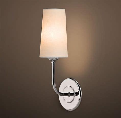 Rh Modern Bathroom Lighting by Modern Taper Sconce With Linen Shade In 2019 Mws
