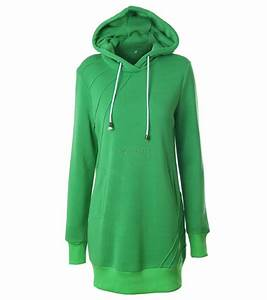 Women Long Sleeve Hoodie Hooded Dress Casual Coat ...