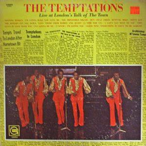 The Hits Chart Live At London 39 S Talk Of The Town The Temptations Album