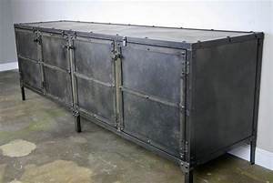 Made Com Sideboard : buy a hand made media console credenza all steel ~ Michelbontemps.com Haus und Dekorationen