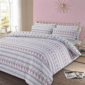 Bettwäsche Pink Weiß : bett bezug mit kissenbezug geometrisch r ckspulen bettw sche set pastell grau ebay ~ Markanthonyermac.com Haus und Dekorationen