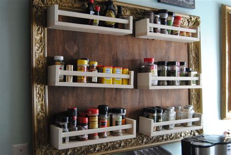 Ikea Spice Rack Ideas by Ikea Hack Turn Spice Racks And A Large Frame Into Hanging