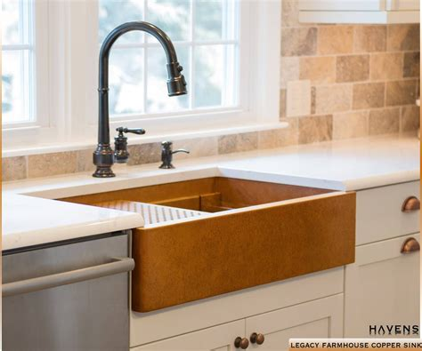 farm style sinks for kitchen undermount copper kitchen sinks usa havens metal 8909