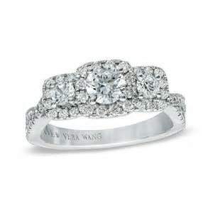 vera wang wedding rings vera wang style 19600931 white gold three engagement ring engagement
