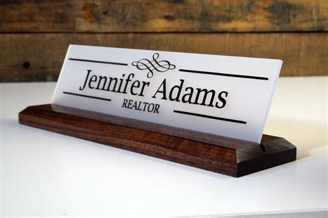 acrylic desk name plates desk sign and acrylic name plate personalized wood