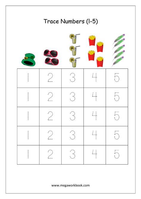 math worksheet number tracing    number tracing
