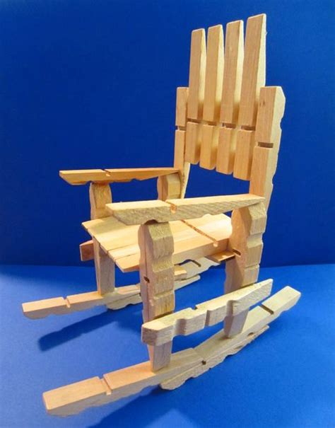 clothespin rocking chair so easy to make
