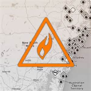 Map  Nsw Fire Incidents And Warnings