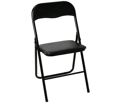chaise pliante evan noire chaises but
