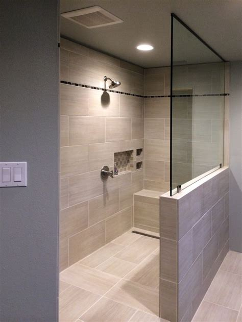 shower half wall 5 this splash panel sits atop a pony wall and secures to the ceiling with a channel support