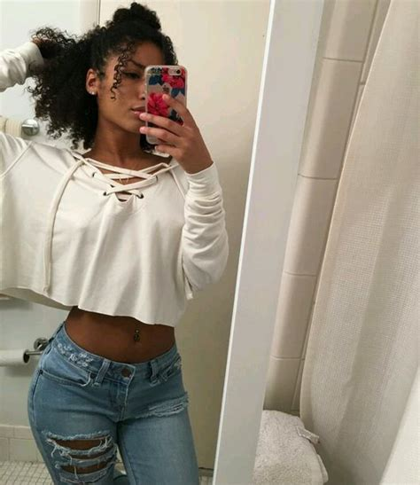 Jeans sweater sexy white white top crop tops white crop tops cut out crop top girl ...