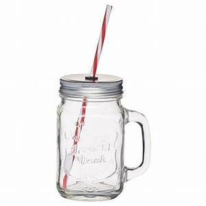 Verre A Paille : verre mason jar 450ml avec paille homemade ~ Teatrodelosmanantiales.com Idées de Décoration