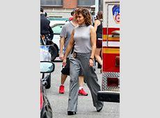 Jennifer Lopez on the Set of