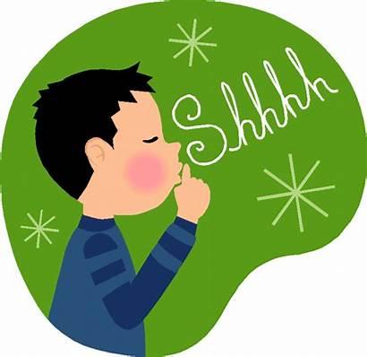 Quiet Clipart Voices Voice Silent Shhh Shh