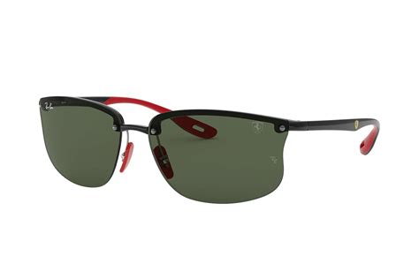 Skip the glare grab a pair of these shades with polarized lenses—no glare, no fuss. Ray-Ban Rb4322m Scuderia Ferrari Collection Black - Lyst
