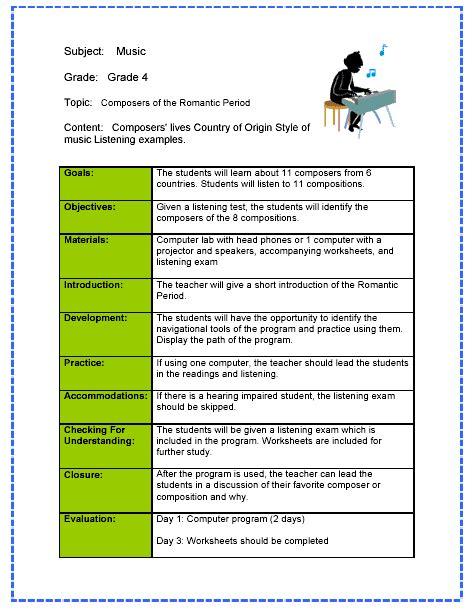 tn music lesson plan template flashback friday classroom management pinterest