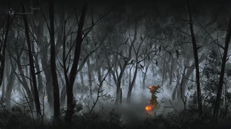 Spooky Wallpaper For by 68 Spooky Forest Wallpapers On Wallpaperplay